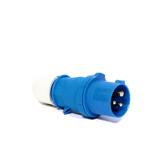 CEENorm 2126 16amp 3-Pin Single Phase Plug, Blue, IP44