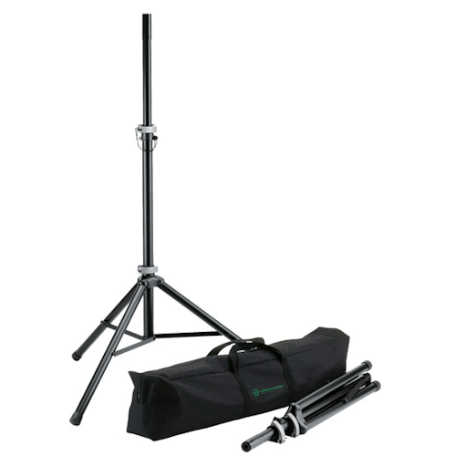 K&M 21459 Pair of Economy Loudspeaker Stands with Carry Bag